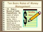 ten basic rules of money management24