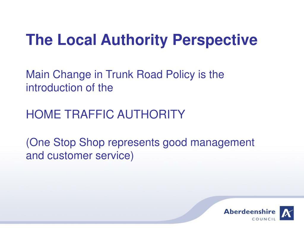 The Local Authority Perspective