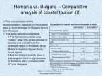 romania vs bulgaria comparative analysis of coastal tourism 2