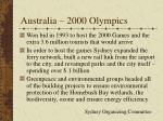 australia 2000 olympics