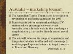 australia marketing tourism