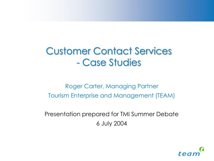 customer contact services case studies n.