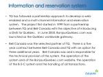 information and reservation system