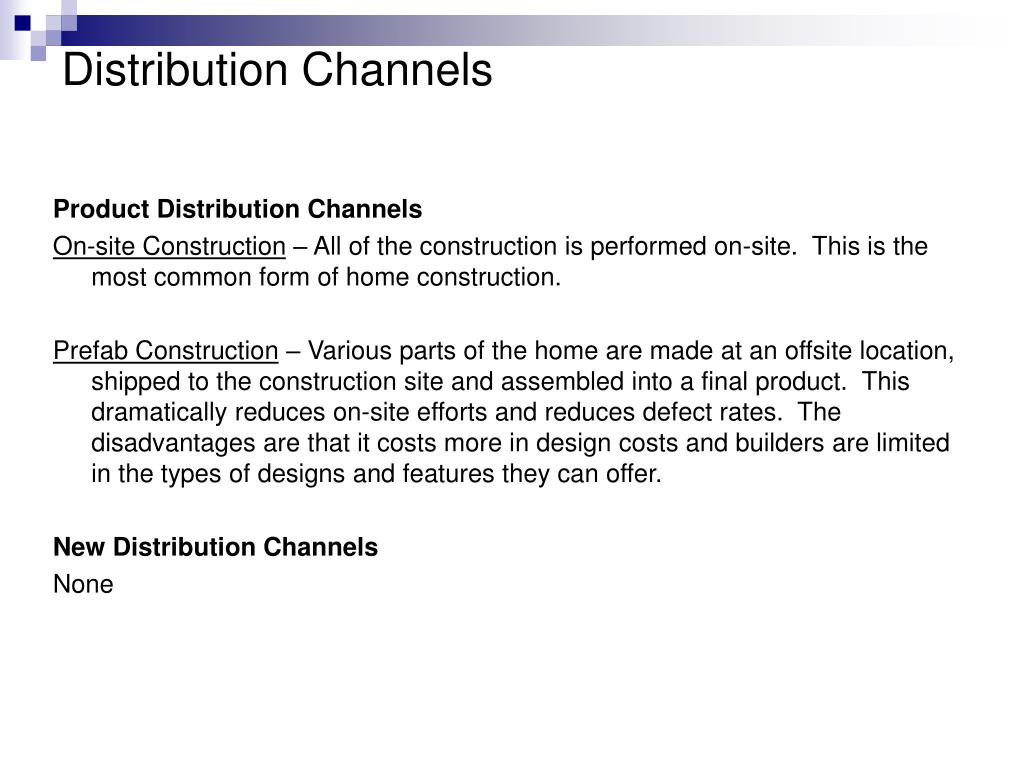 Product Distribution Channels