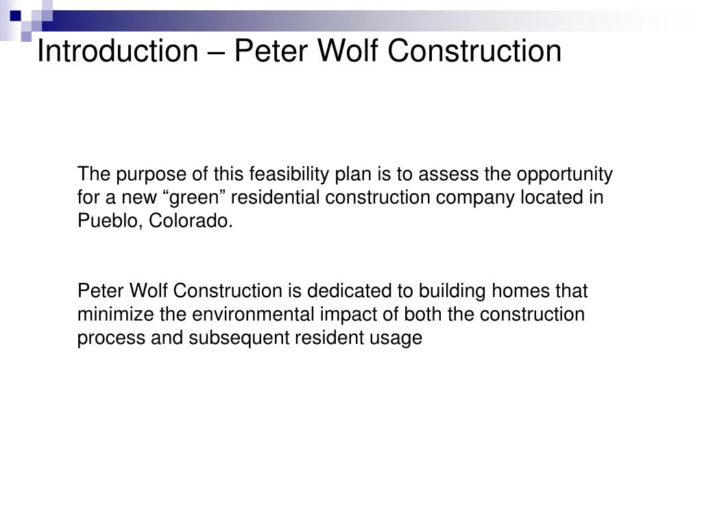 Introduction – Peter Wolf Construction