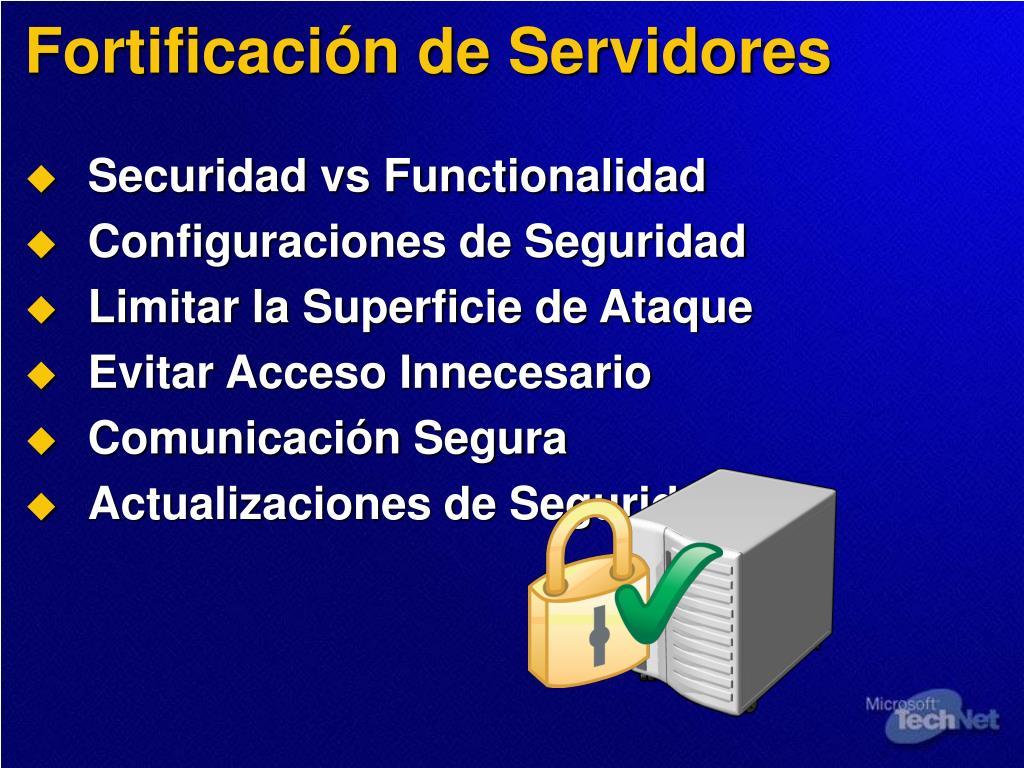 Fortificación de Servidores