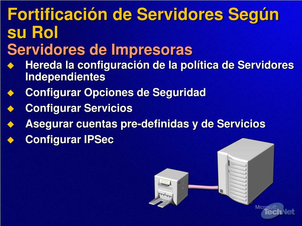 Fortificación de Servidores Según su Rol