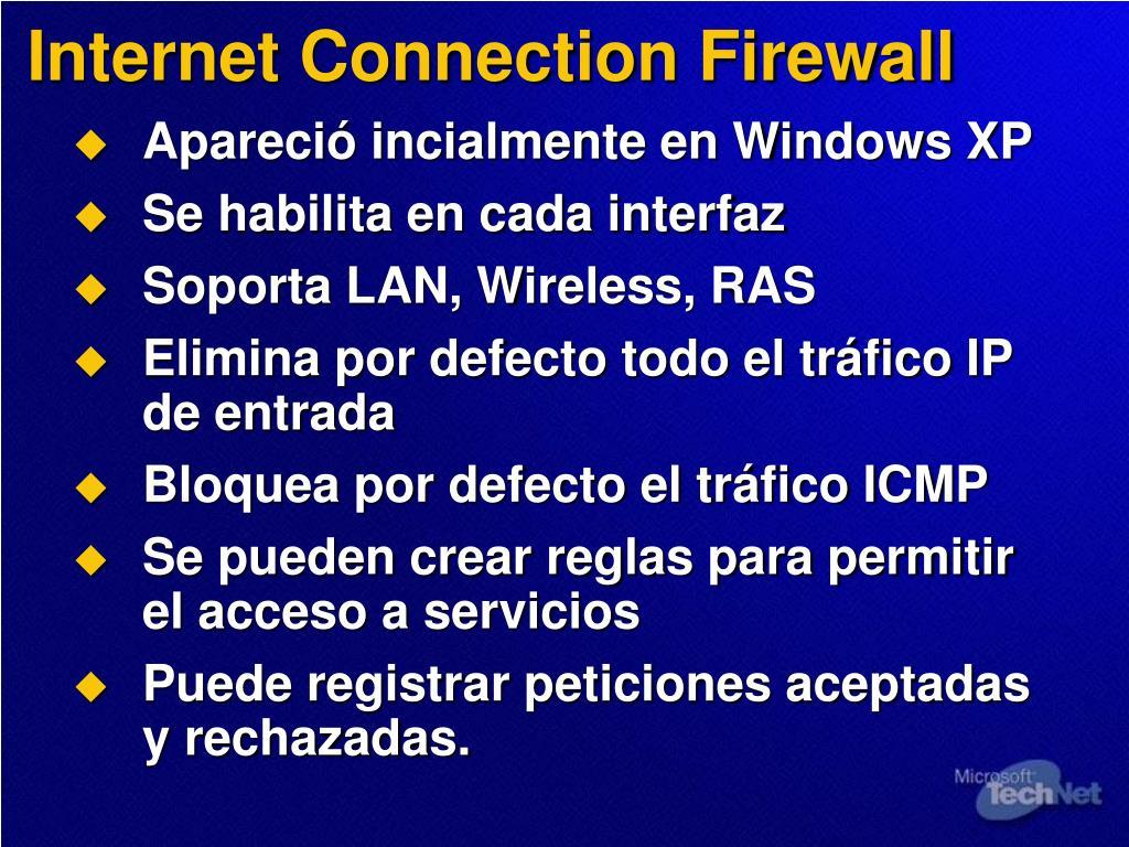 Internet Connection Firewall