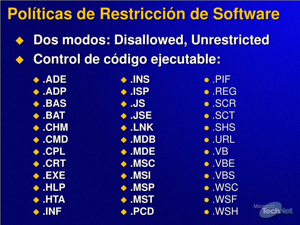 Políticas de Restricción de Software