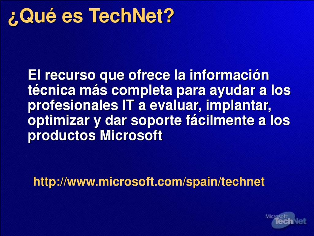 ¿Qué es TechNet?