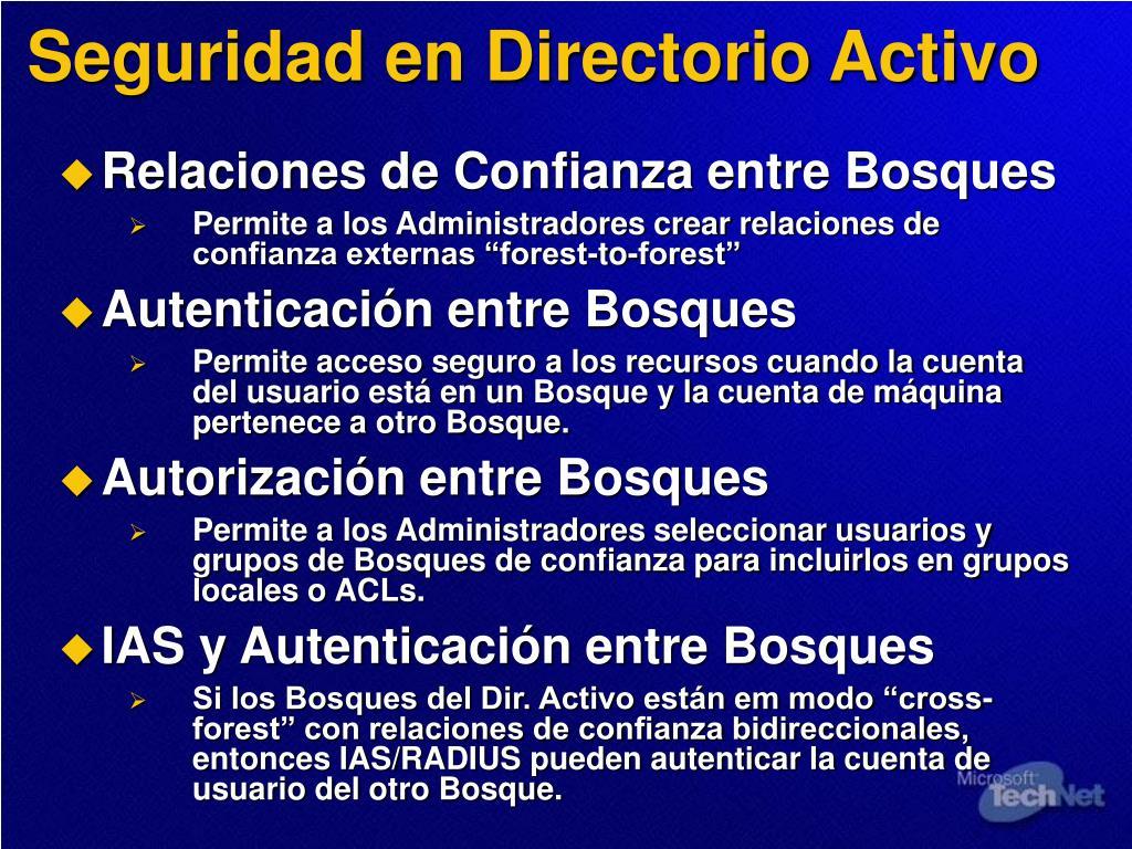Seguridad en Directorio Activo