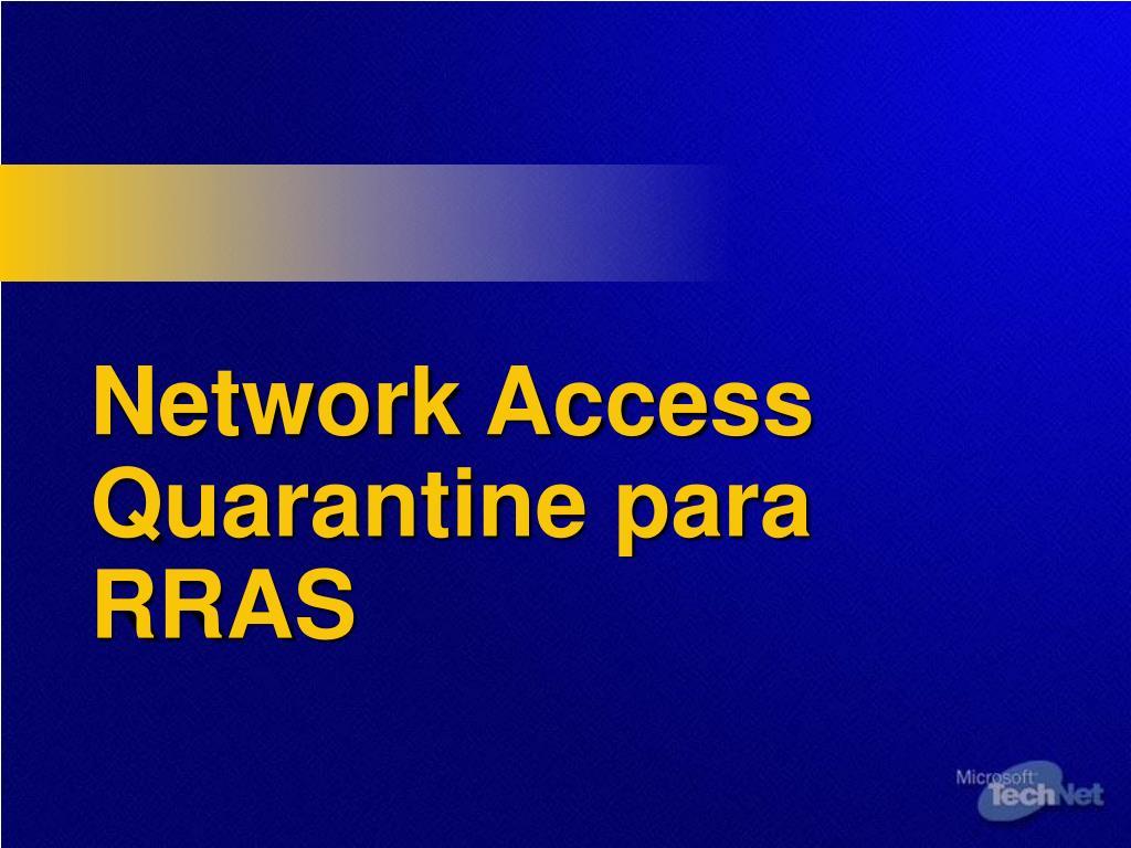 Network Access Quarantine para RRAS