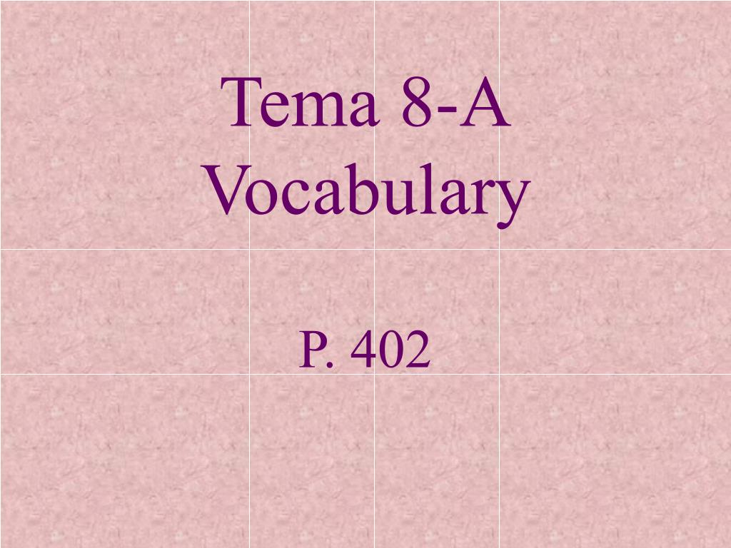 tema 8 a vocabulary l.