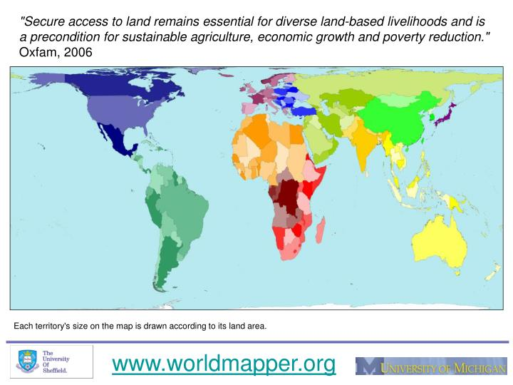 """Secure access to land remains essential for diverse land-based livelihoods and is a precondition fo..."