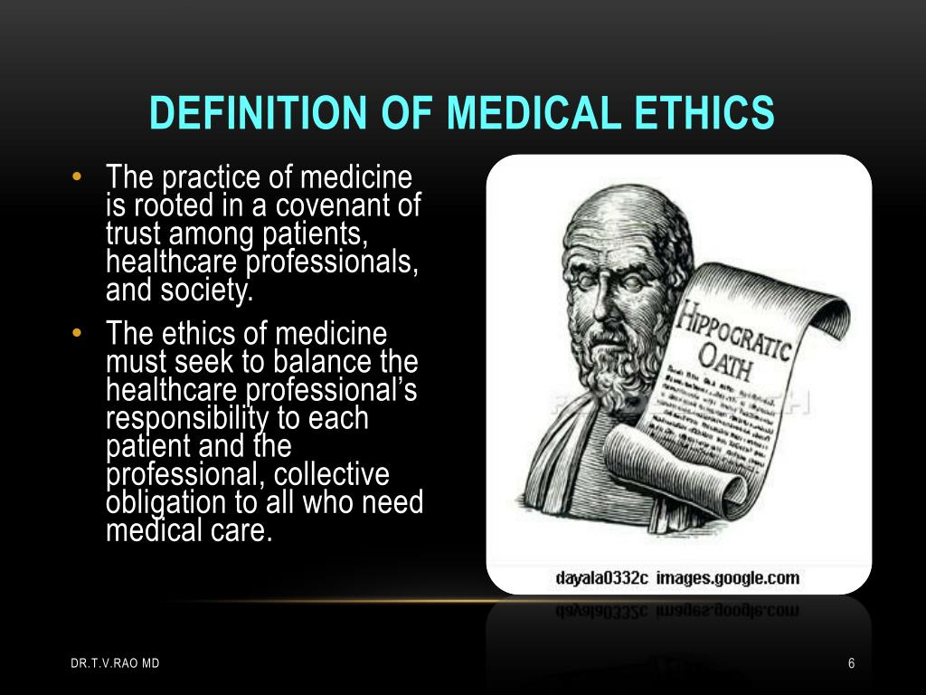 Definition of medical ethics