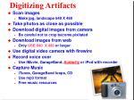 digitizing artifacts