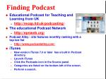 finding podcast