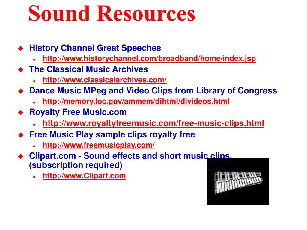 Sound Resources