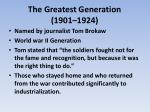 the greatest generation 1901 1924