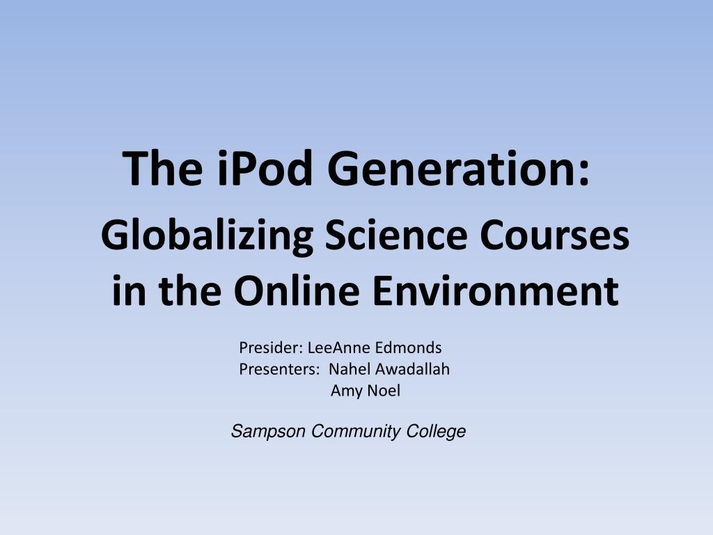 the ipod generation l.