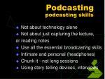 podcasting podcasting skills