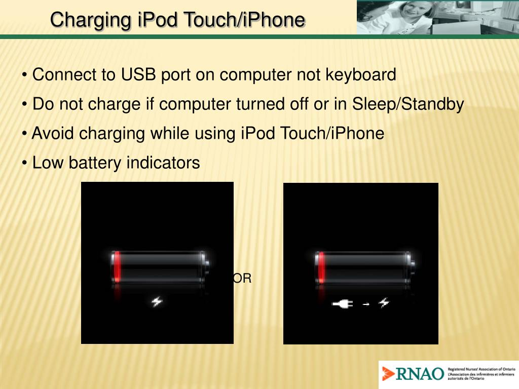 Charging iPod Touch/iPhone