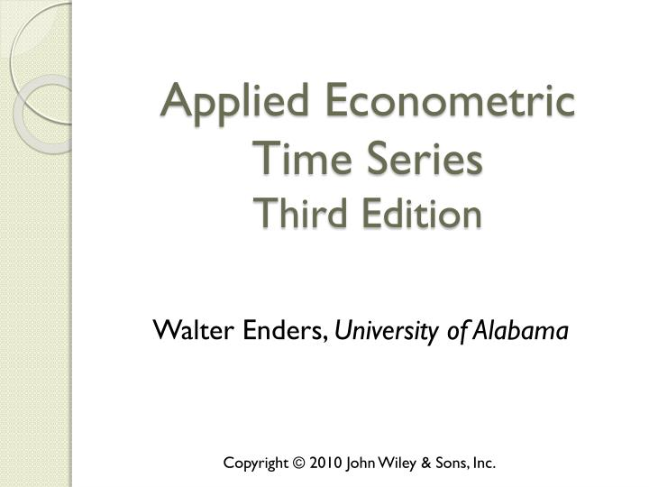 applied econometric time series third edition n.