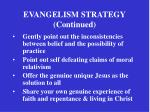 evangelism strategy continued