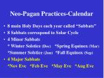 neo pagan practices calendar