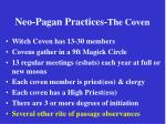 neo pagan practices the coven