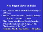 neo pagan views on deity