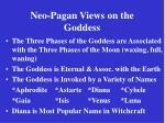 neo pagan views on the goddess