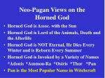 neo pagan views on the horned god