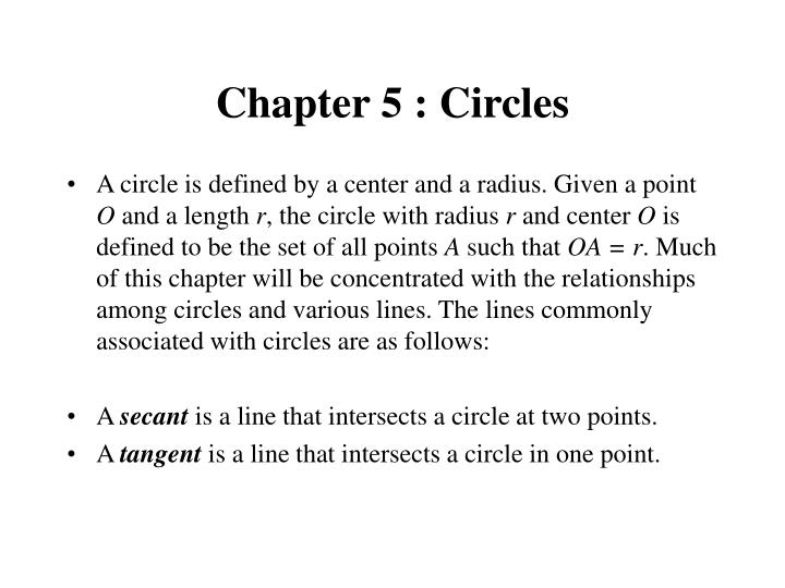 chapter 5 circles n.