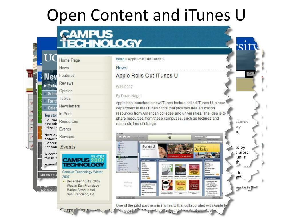 Open Content and iTunes U