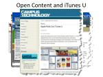 open content and itunes u