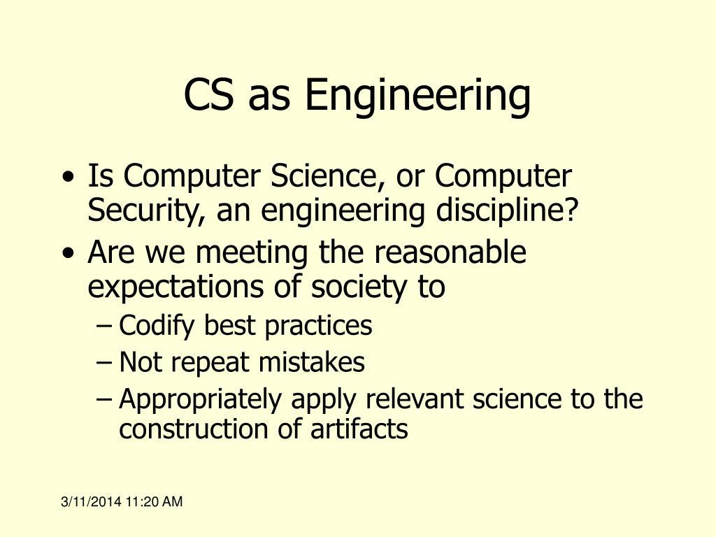CS as Engineering