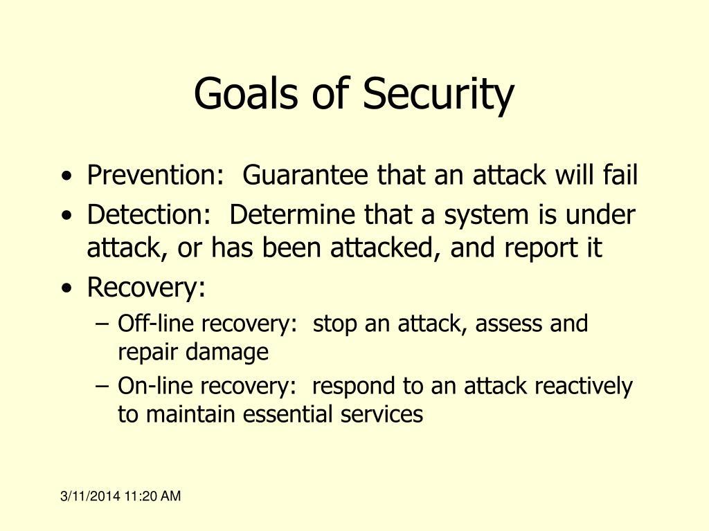 Goals of Security