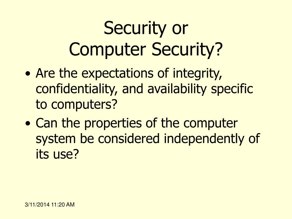 Security or