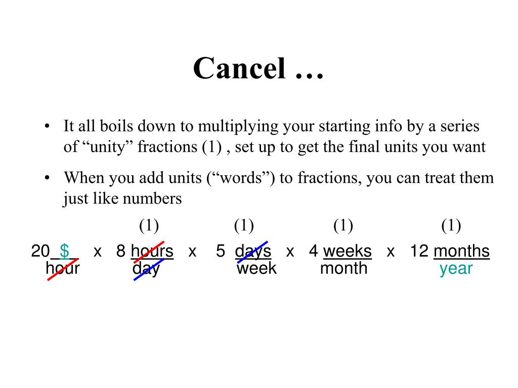 Cancel …