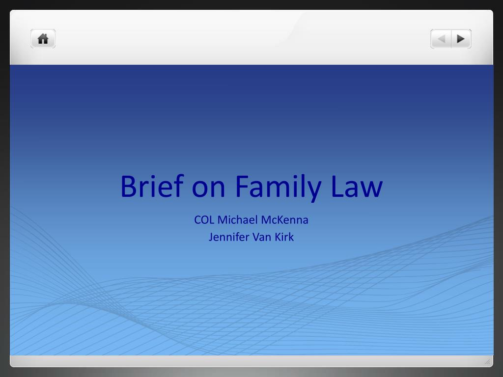 brief on family law l.