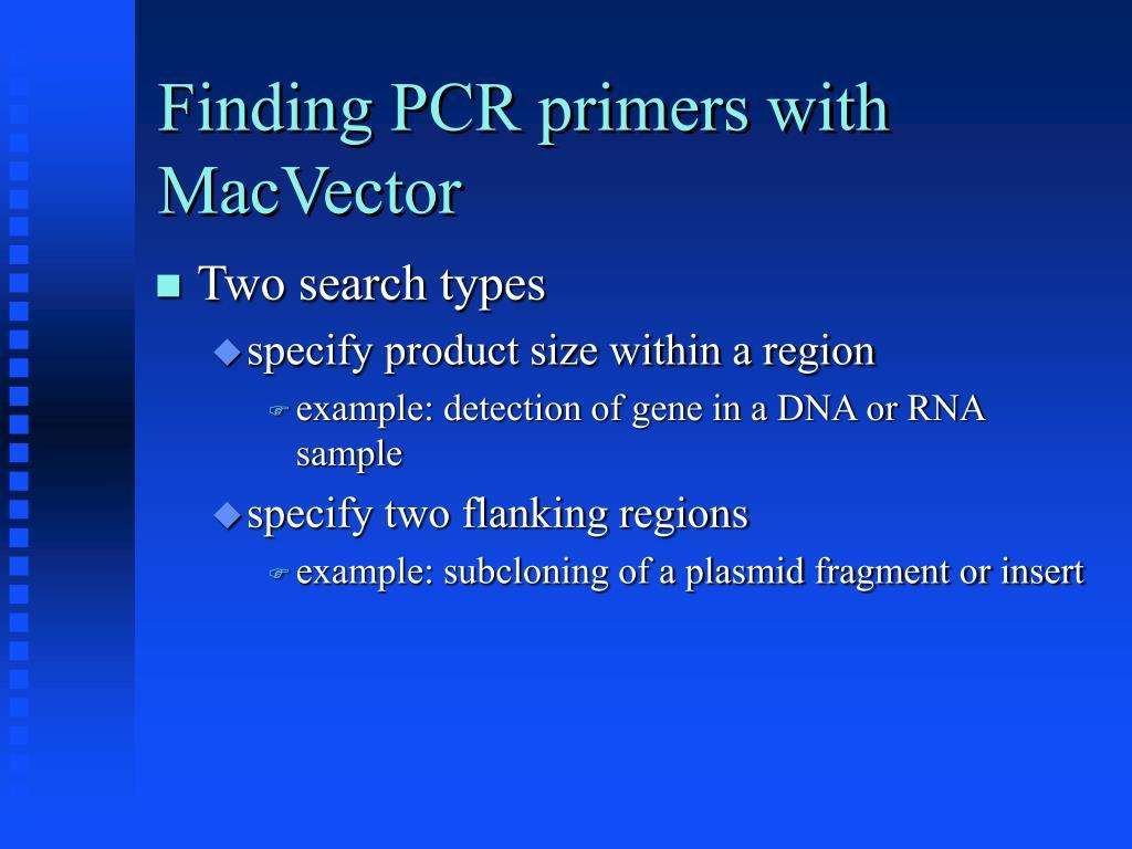 PPT - Computational Biology, Part 5 PCR Primer Design
