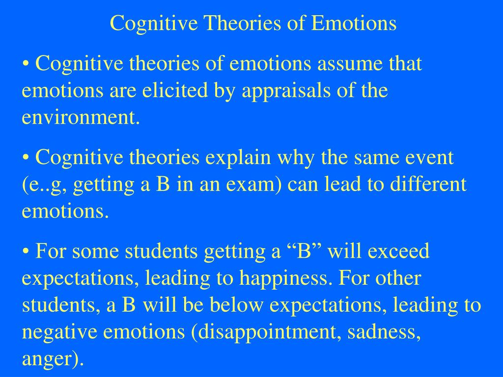 Cognitive Theories of Emotions