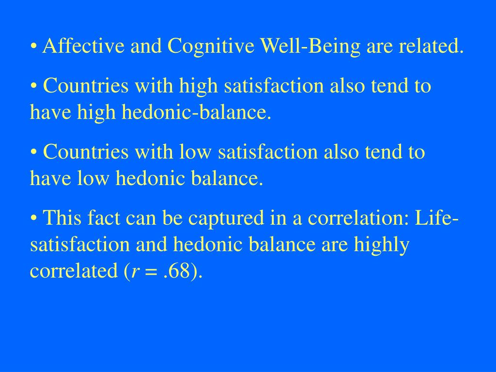 Affective and Cognitive Well-Being are related.