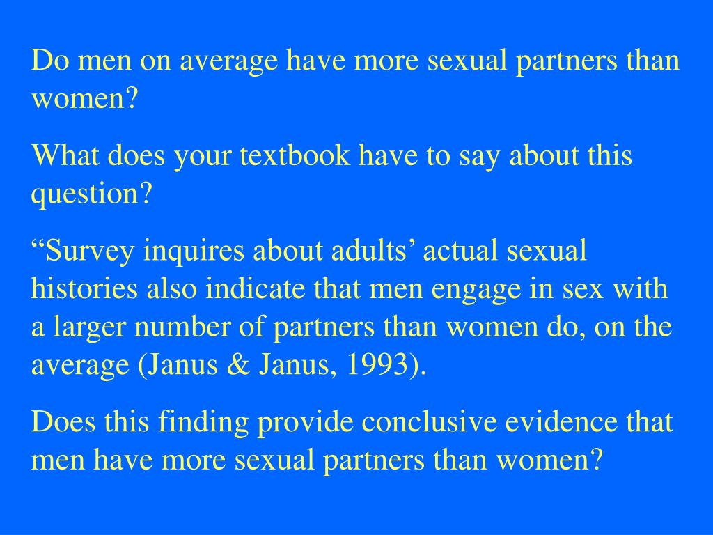 Do men on average have more sexual partners than women?