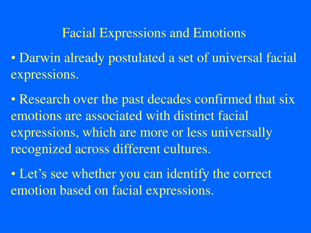 Facial Expressions and Emotions