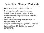 benefits of student podcasts