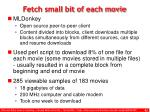 fetch small bit of each movie