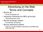 advertising on the web terms and concepts