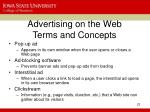 advertising on the web terms and concepts22